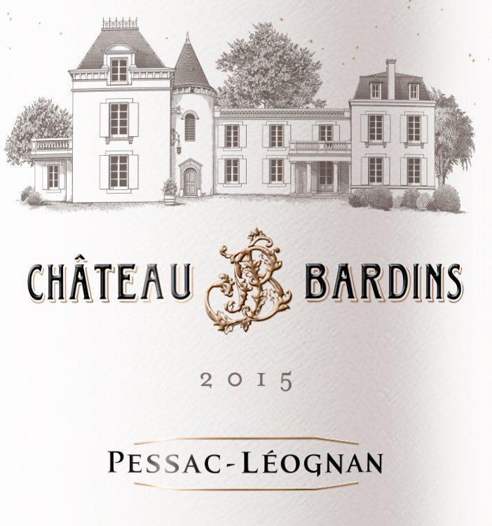 Château Bardins en AOC Pessac Léognan 2015