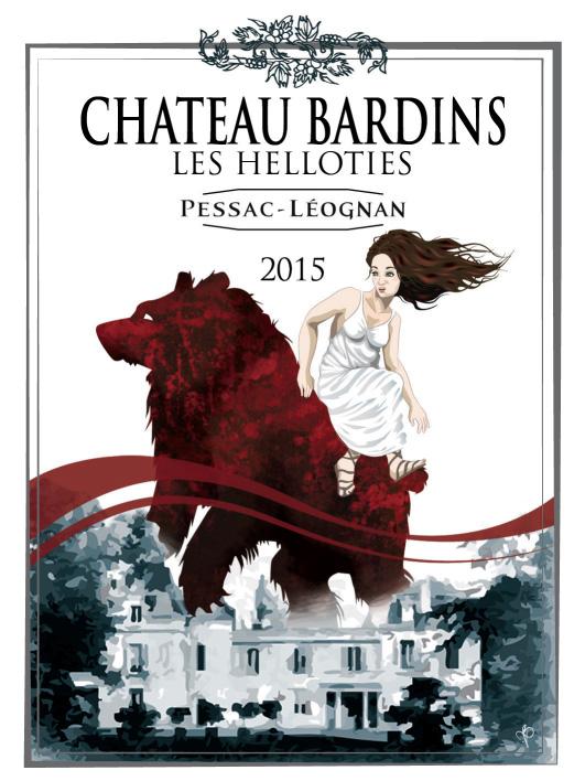 Château Bardins en AOC Pessac Léognan - Cuvée Les Helloties 2015
