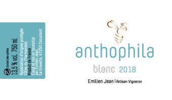 Domaine Emilien Jean en AOC Côtes du Marmandais - Cuvée Anthophila blanc 2018