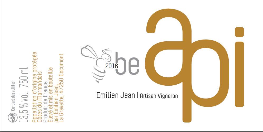 Domaine Emilien Jean en AOC Côtes du Marmandais - Cuvée Be Api 2016