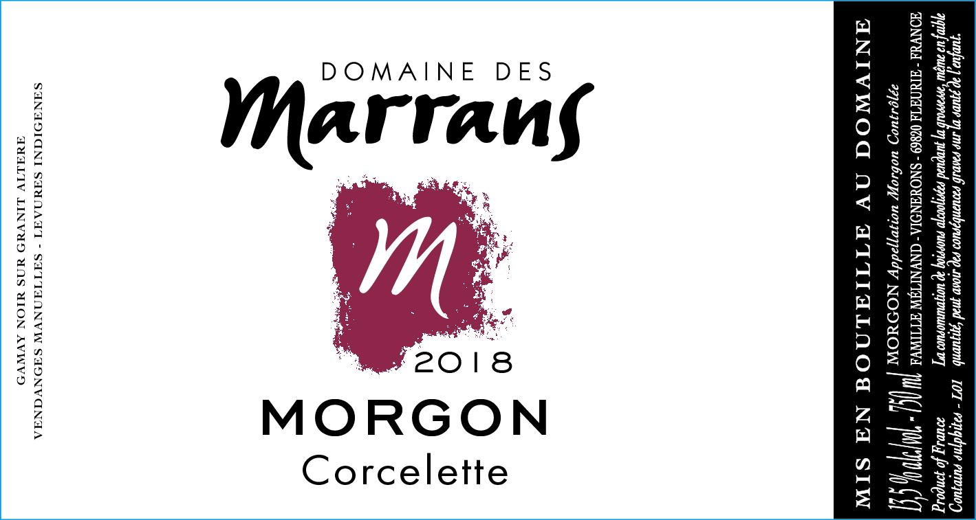 Domaine des Marrans en AOC Morgon - Cuvée Corcelette 2018